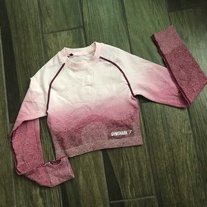 Gymshark Pink Ombre Seamless Cropped Top XS